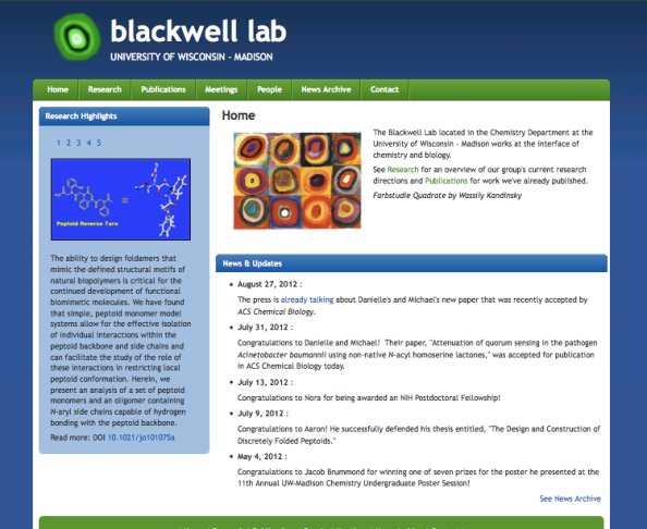 Site: Blackwell Research Group